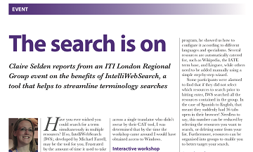 The search is on: article in the ITI Bulletin