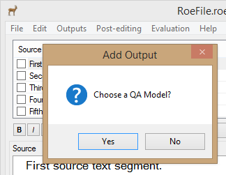 Choose QA Model