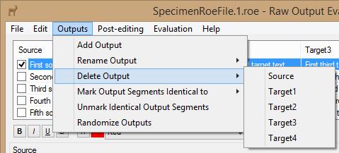 Delete Output