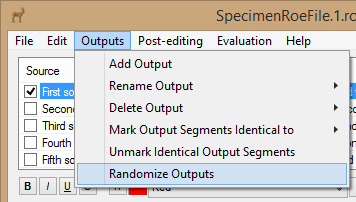 Randomize Output