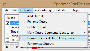 Unmark Output