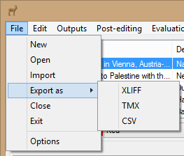 Export As